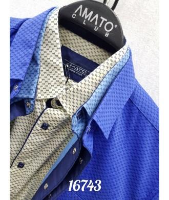 Рубашка amato 16743 к/р