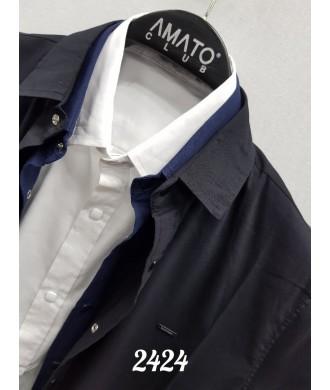рубашка  black stones 2424 к/р